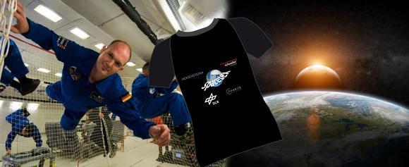 """Unter dem Motto """"Songs für Alex nennen – Spacetex-Shirt gewinnen"""" steht noch bis 11. November 2014 ein Gewinnspiel der Spacetex-Projektpartner unter www.facebook.com/hohensteininstitute ©ESA/NASA und Fotolia.com_sdecoret"""