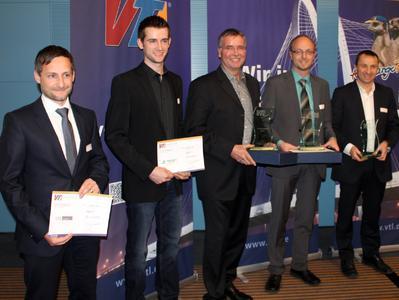 Die Gewinner, von links: Michael Rau (CFL), Sebastian und Arnd Schenkelberg (Schenkelberg), Michael Sander (Kunzendorf) und Marc Valette (CFL)