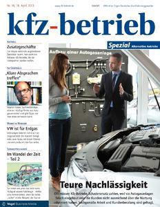 Titelseite des »kfz-betrieb« 16, Spezialausgabe Alternative Antriebe