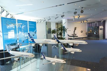 Airbus Innen mit Flugzeugmodellen, Bildquelle: Airbus Group
