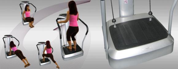 CrazyFit Massage Vibrationsplatte für Muskelaufbau und Haut straffen....
