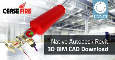 New CeaseFire service enables native 3D BIM CAD data from fire protection components to be integrated directly into Autodesk Revit