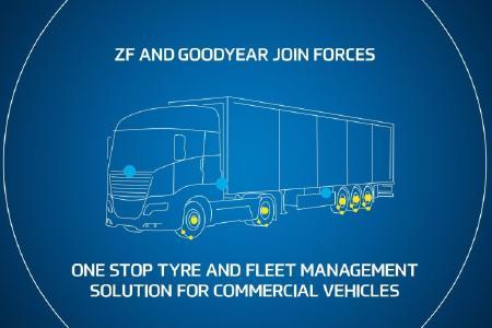 ZF und Goodyear bieten Fuhrparks eine integrierte Flotten- und Reifenmanagementlösung und bringen so die Unterstützung für Aufliegerhersteller und Fuhrparkbetreiber in ganz Europa auf ein höheres Niveau