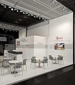 Blick auf den Kommunikationsbereich auf der Ceramitec 2012