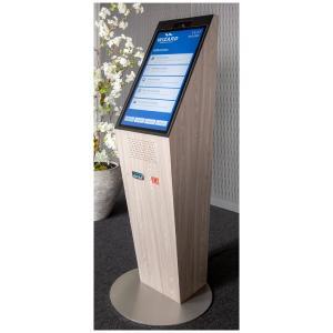 GeBE Linerless Drucker in digitalem Concierge von WIZARD: Drucker erstellt Zutrittsberechtigung bei Self Check-In