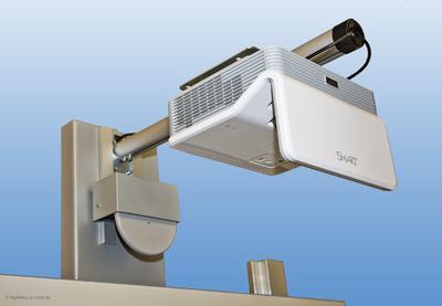 Die passgenaue Halterung ermöglicht das milimetergenaue Ausrichten des LightRaise 60wi