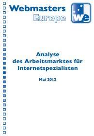 Webmasters Europe stellt Arbeitsmarktanalyse 2012 vor.