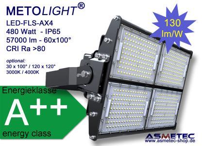 METOLIGHT LED Flutlicht FLS-AX4, 480 Watt, 57500 lm