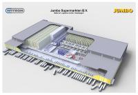 Aus dem neuen Jumbo-Verteilzentrum in Nieuwegein werden zukünftig alle Filialen und Vertriebskanäle in den Niederlanden beliefert. Bild: WITRON.