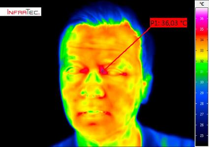 Contactless fever screening with an infrared camera from InfraTec