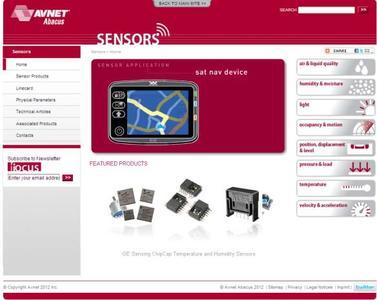 Avnet Abacus präsentiert neue Sensor Microsite www.avnet‐abacus.eu/sensors