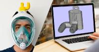 Wir unterstützen italienische Ingenieure bei der Umwandlung der Schnorchelmasken Easybreath in Beatmungsmasken für das medizinische Personal.