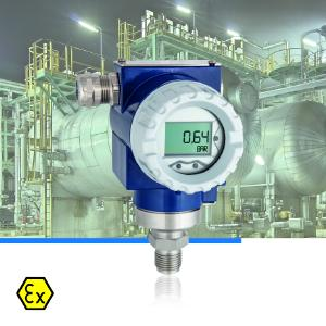 The new AFRISO DMU 14 DG/FG Ex pressure transducer was developed for pressure measurement with high measuring accuracy and long-term stability and is ideal for applications in the process industry / Photograph: AFRISO