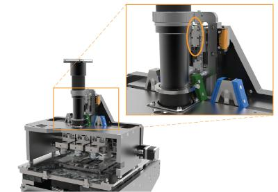 Im Inneren des Hochleistungsscanners ist der Piezomotor zu sehen: Mit dem neuen Antrieb werden digitale Scanner schneller und effizienter