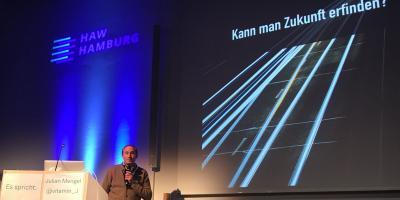 UX Designer Julian Mengel auf dem World Usability Day 2019 in Hamburg