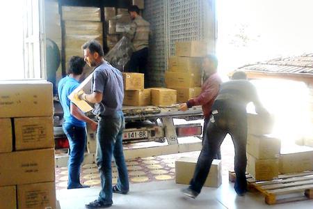 Mitte April erreichte die von Logwin organisierte Hilfslieferung die türkische Stadt Gaziantep. © Logwin