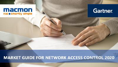macmon secure is now in Gartner's Market Guide for Network Access Control
