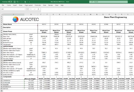 Automatically generated data sheet from a heat & material balance calculation: This way EB saves manual work and transmission errors (Image: AUCOTEC AG)