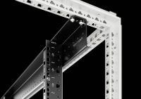 Durch eine verbesserte Rahmenkonstruktion erreicht der IT-Schrank VX IT höchste Stabilität im Vertikalprofil von bis zu 1.800 kg je nach Modell. Quelle Rittal GmbH & Co. KG