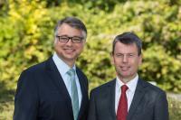 Thomas Murche und Caspar Baumgart (v. l.) führen in einer Doppelspitze die WEMAG Unternehmensgruppe, Foto: WEMAG/Stephan Rudolph-Kramer