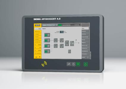 The Sigma Air Manager 4.0 (SAM 4.0) monitors and controls all components of the compressed air station for maximum efficiency and also provides Industrie 4.0 capability