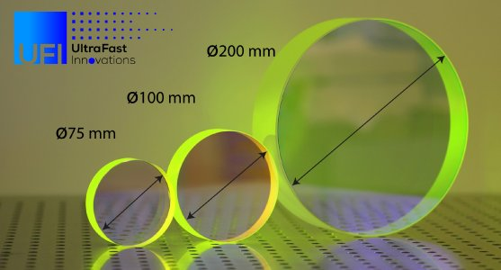 UFI's large aperture optics: optical components of up to Ø250 mm