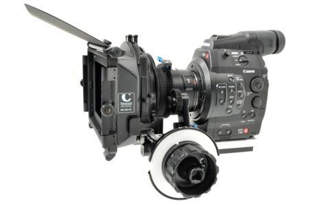 Chrosziel Studio Rig Video (203 01) und Antriebsrad 201 22 an der Canon EOS C300