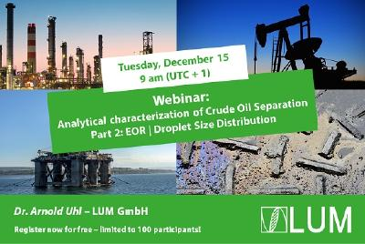 Analytical characterization of Crude Oil Separation; Part 2: EOR | Droplet Size Distribution