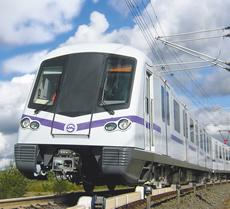Visitors will reach the Expo in Shanghai on newly built lines of the local metro system. ContiTech equips the rail vehicles with air spring systems. Photo: Siemens