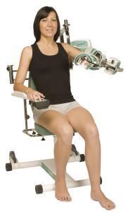 Die über Schupp beziehbare Bewegungsschiene Kinetec CenturaTM ist eine anatomische Schulter-CPM-Schiene speziell für die Anwendung in Klinik und Praxis