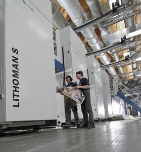 Königliche Druckerei Em. de Jong investiert in zweite 96-Seiten LITHOMAN von manroland web sys-tems / © manroland web systems