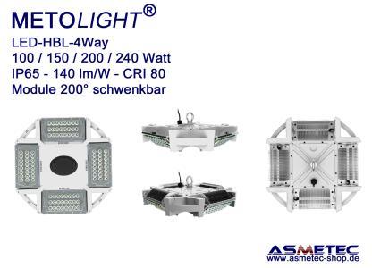 METOLIGHT LED-Hallenleuchte HBL-4Way