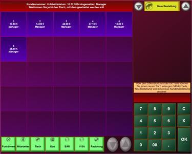 Kassensoftware Tablet Kasse Metro Design