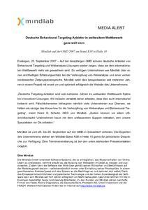 Mindlab-Kommentar zur OMD: Deutsche Behavioural Targeting Anbieter in weltweitem Wettbewerb ganz weit vorn