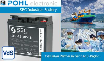 Pohl jetzt exklusiver Distributor der SEC Industrial Battery International Ltd.