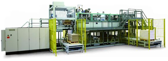 Daehan Paper decides on a GRM folio-size ream wrapper with the new single palletizer