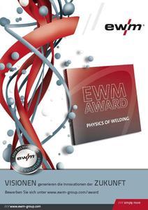 EWM-Award für frische Ideen in der Schweißprozessforschung