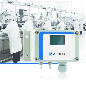 Der neue AFRISO Druckmessumformer DeltaFox DMU 20 D misst die allerkleinsten Differenzdrücke (1 mbar, 0,25 mbar ab Herbst/Winter 2017) und wird zur Überwachung von Filtern und in der Reinraumtechnik eingesetzt / Foto: AFRISO