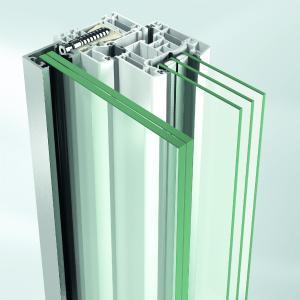 Schüco Absturzsicherungen: Befestigungssystem mit dem Klebedübel / Bildnachweis: Schüco Polymer Technologies KG