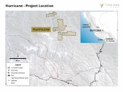 Tier One Silver optioniert Hurricane-Silberprojekt im Südosten von Peru