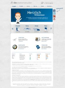 Neue Startseite des Online-Shops