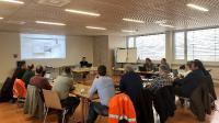 Das Kickoff-Meeting der Projektmitarbeitenden der Rhätischen Bahn und von GIA Informatik in Landquart