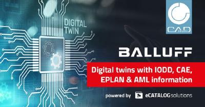 Digital twin: Balluff delivers AutomationML format as a central product information source, powered by CADENAS