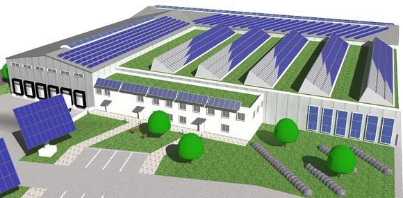 Bis zu 200.000 Kollektoren pro Jahr werden ab Oktober 2008 in der neuen energieautarke Kollektorfabrik produziert