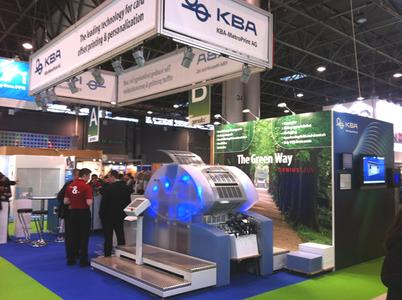 The KBA-MetroPrint AG stand at this year's Cartes 2011