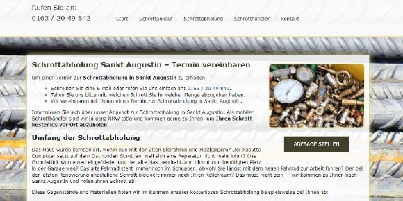 Schrottabholung, Sankt Augustin, NRW, Altmetall, Schrott