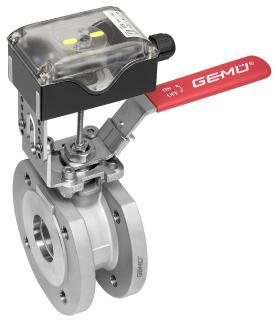 From a single source - Manual GEMÜ ball valves with integrated position feedback