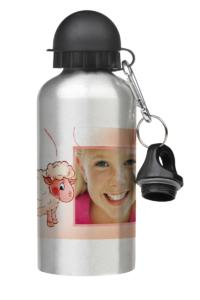 Aluminium sports bottle with photo on print