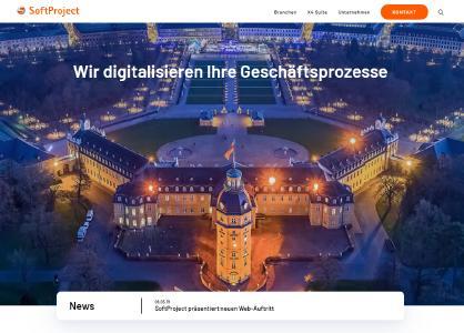 Homepage des neuen Web-Auftritts der SoftProject GmbH