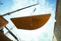 SWISS KRONO MAGNUMBOARD® OSB: großformatig, dimensionsstabil und individuell vorgefertigt (Bildnachweis: SWISS KRONO   Fotos: www.tmstudios.de)